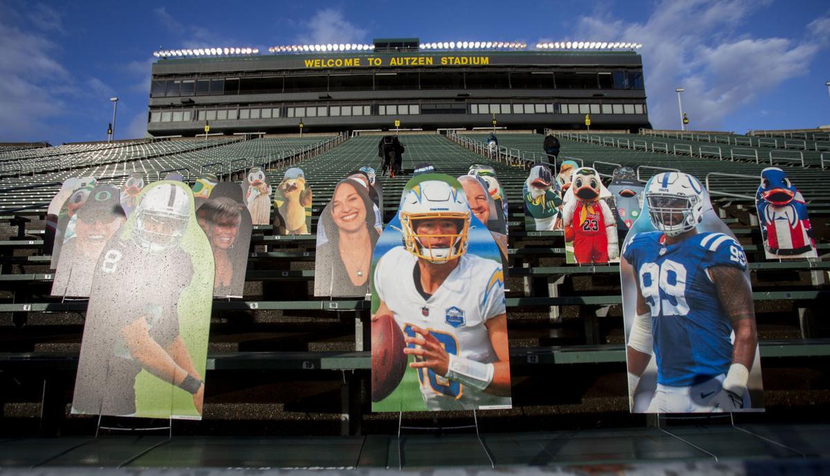 Autzen Stadium fan cutouts