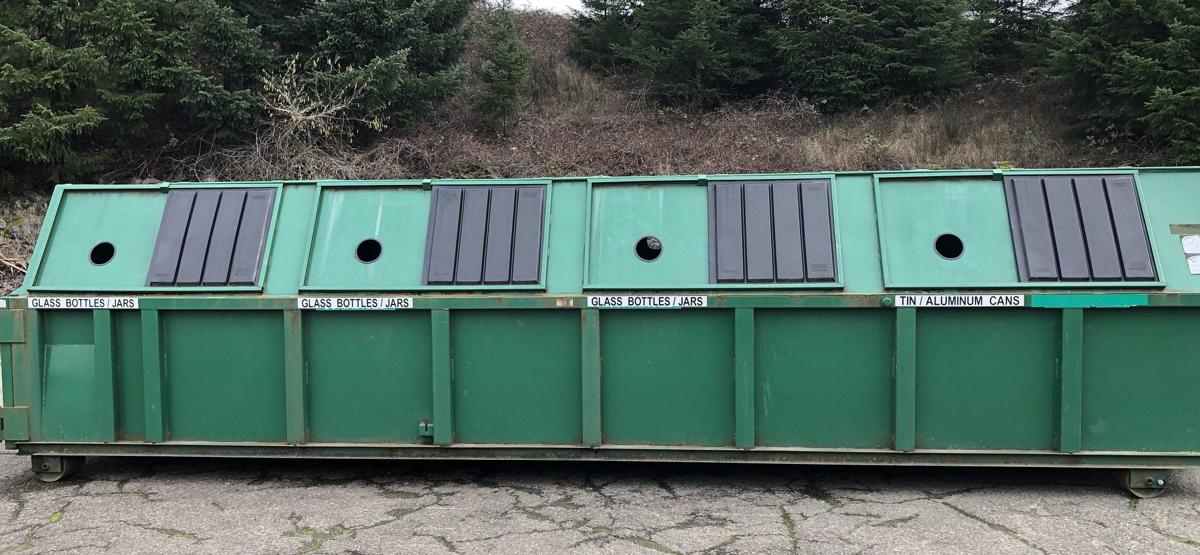 Glass recycle bins