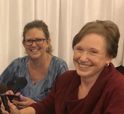 Donna Boak and Carol Ferguson