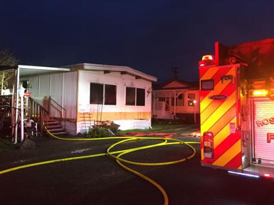 Athens Lane mobile home fire