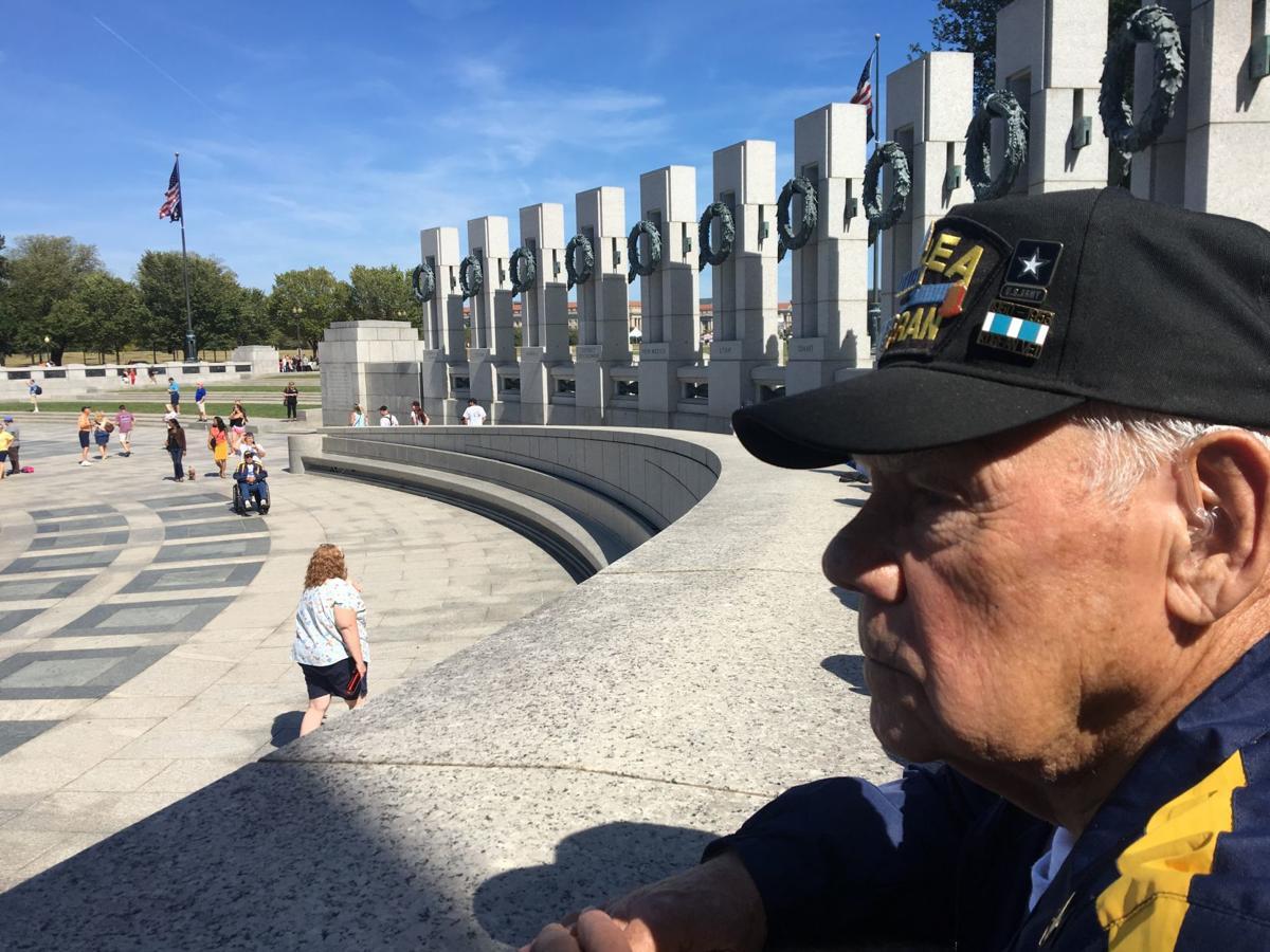 Carl Giles at World War II Memorial