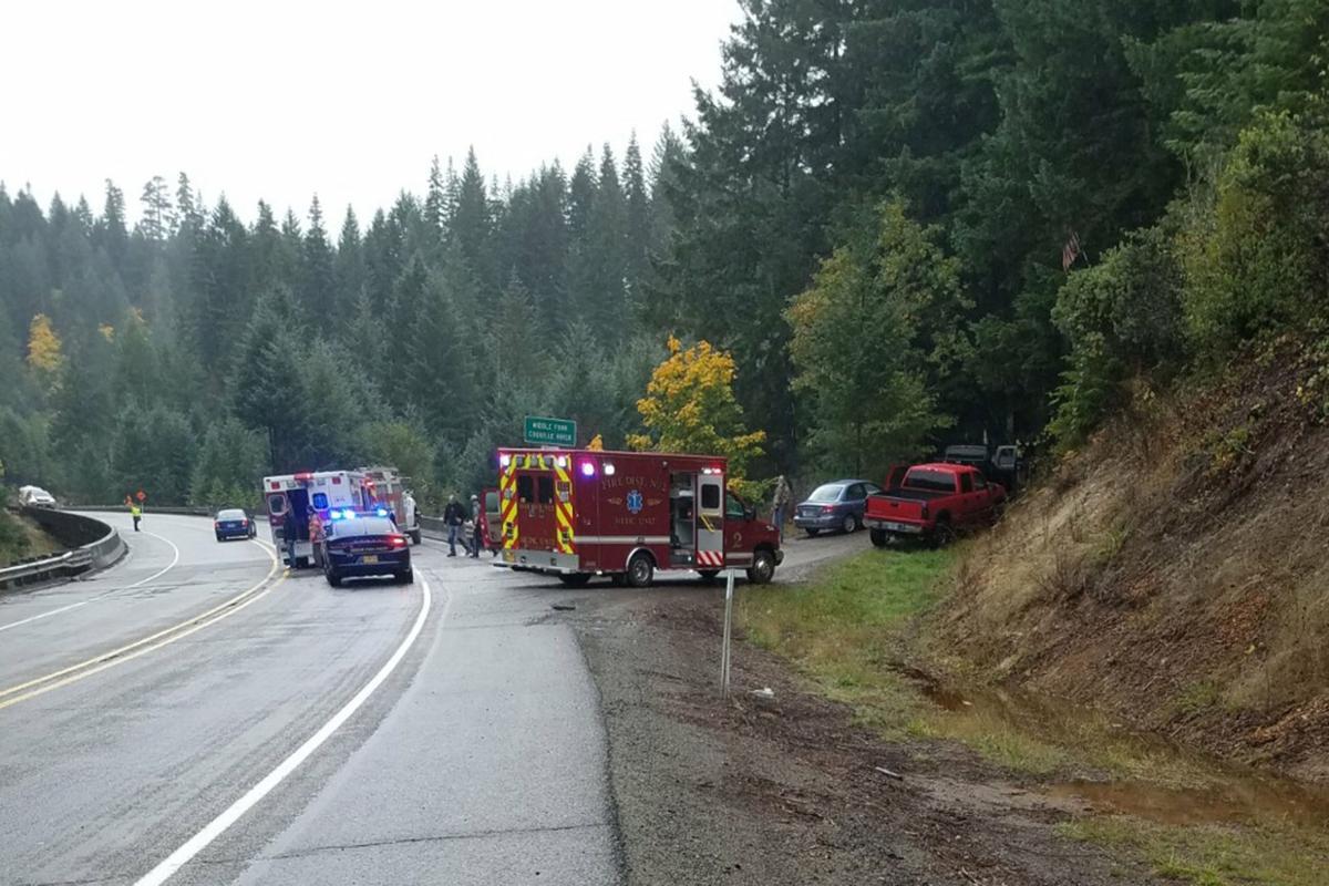 Fatal crash near Camas Valley