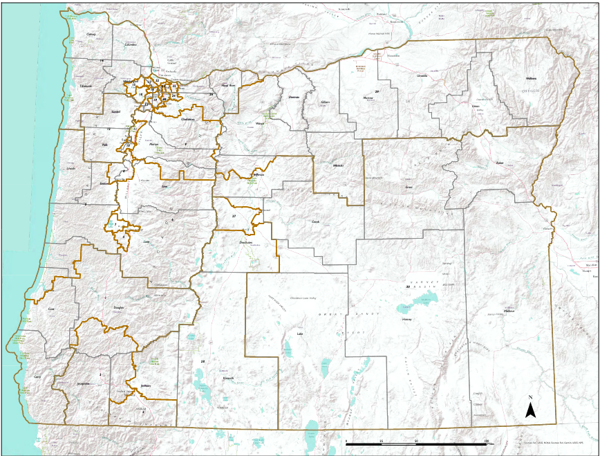 Oregon Senate Map final
