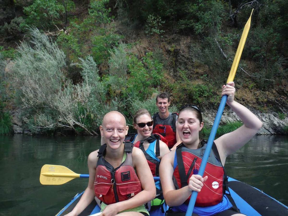 Lindsey Willis in SAR raft