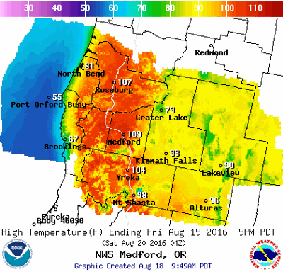 Weather service now predicting 108 Friday | Weather