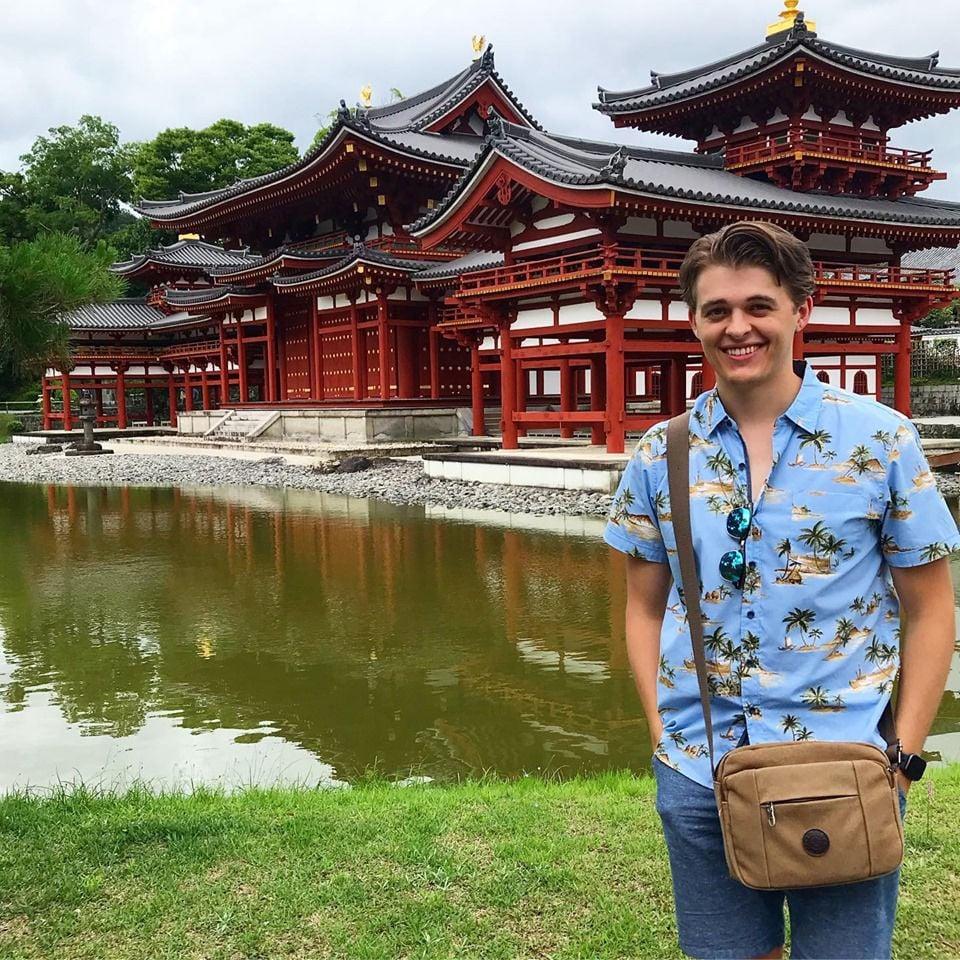 Japanese club president studies abroad