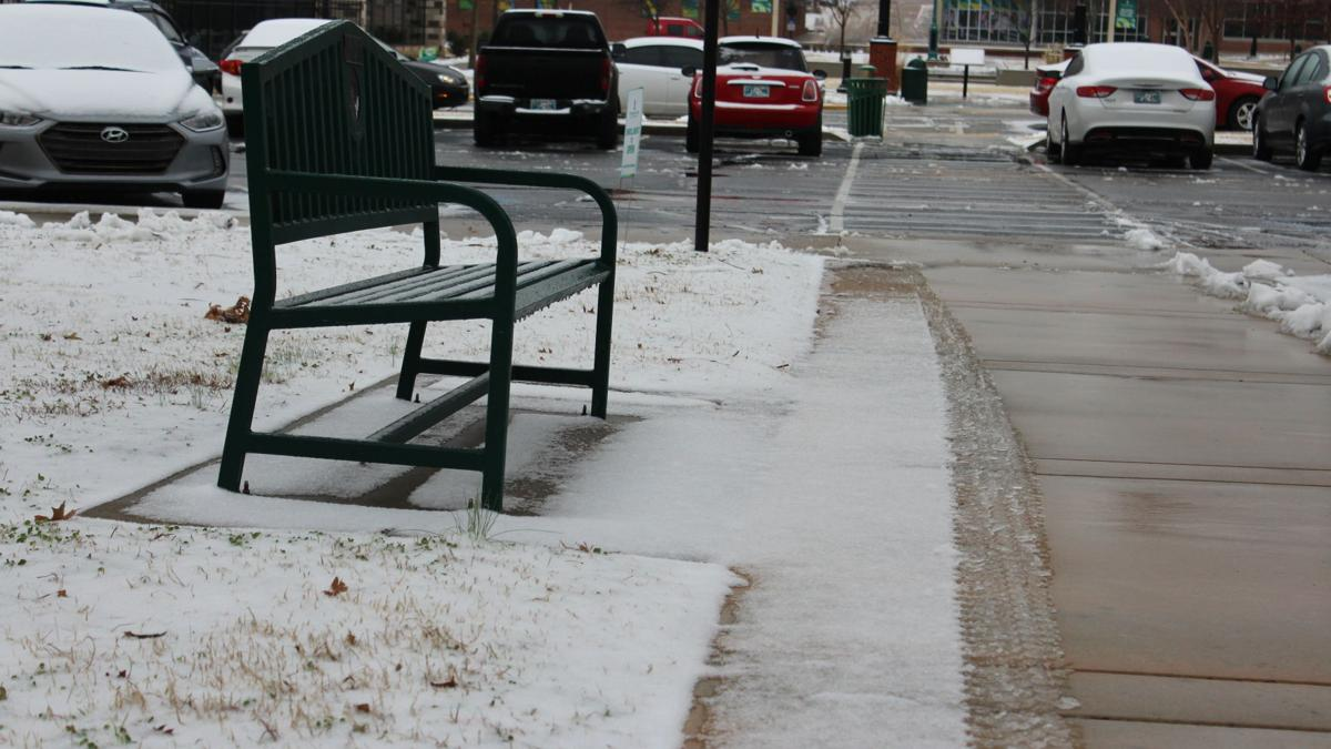NSU students enjoy first snow day in years
