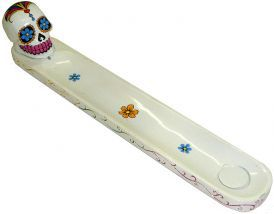 Incense Burner - White Sugar Skull image 1