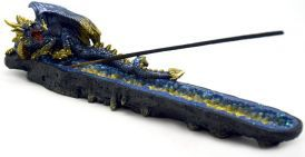 Incense Burner - Dragon Guarding Gems image 1