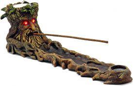 Incense Burner - Green Man with LED Eyes image 1