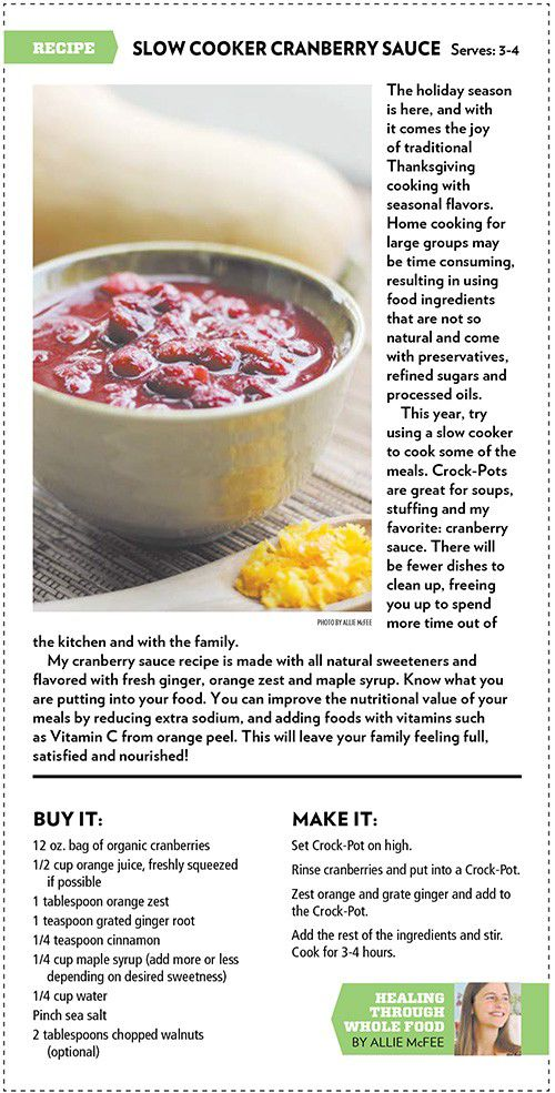 Pinterest-ready recipe: Allie McFee's Easy Slow Cooker Cranberry Sauce