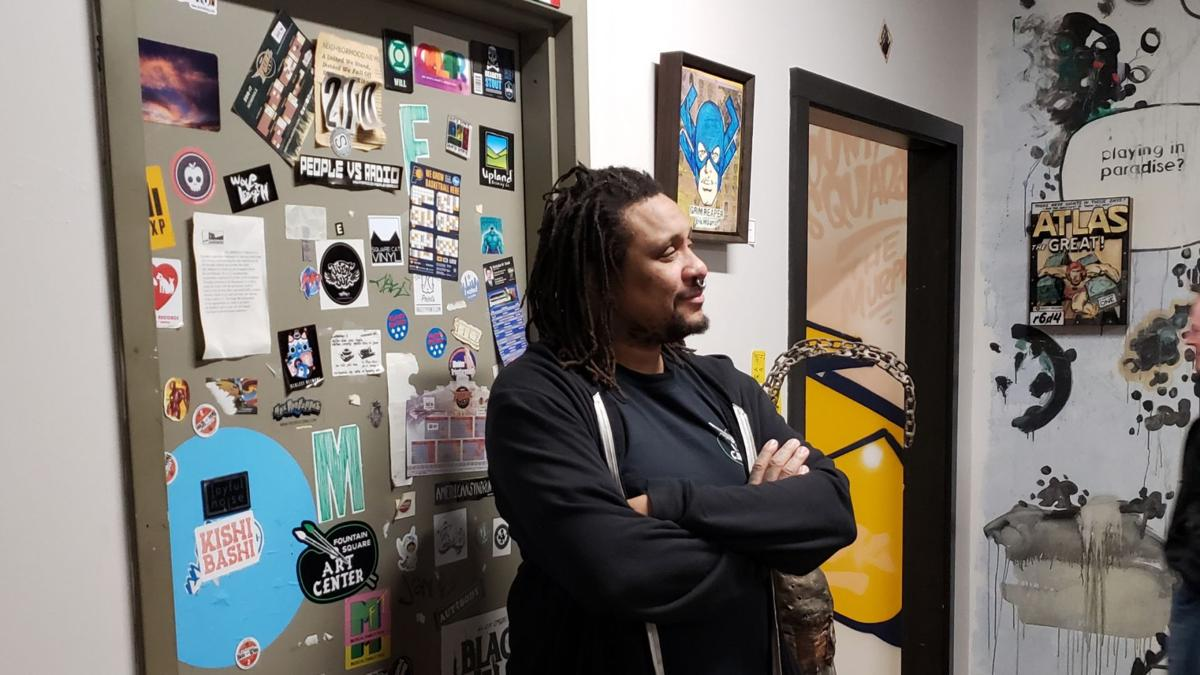 Mike Graves at his studio in the Murphy Art Center