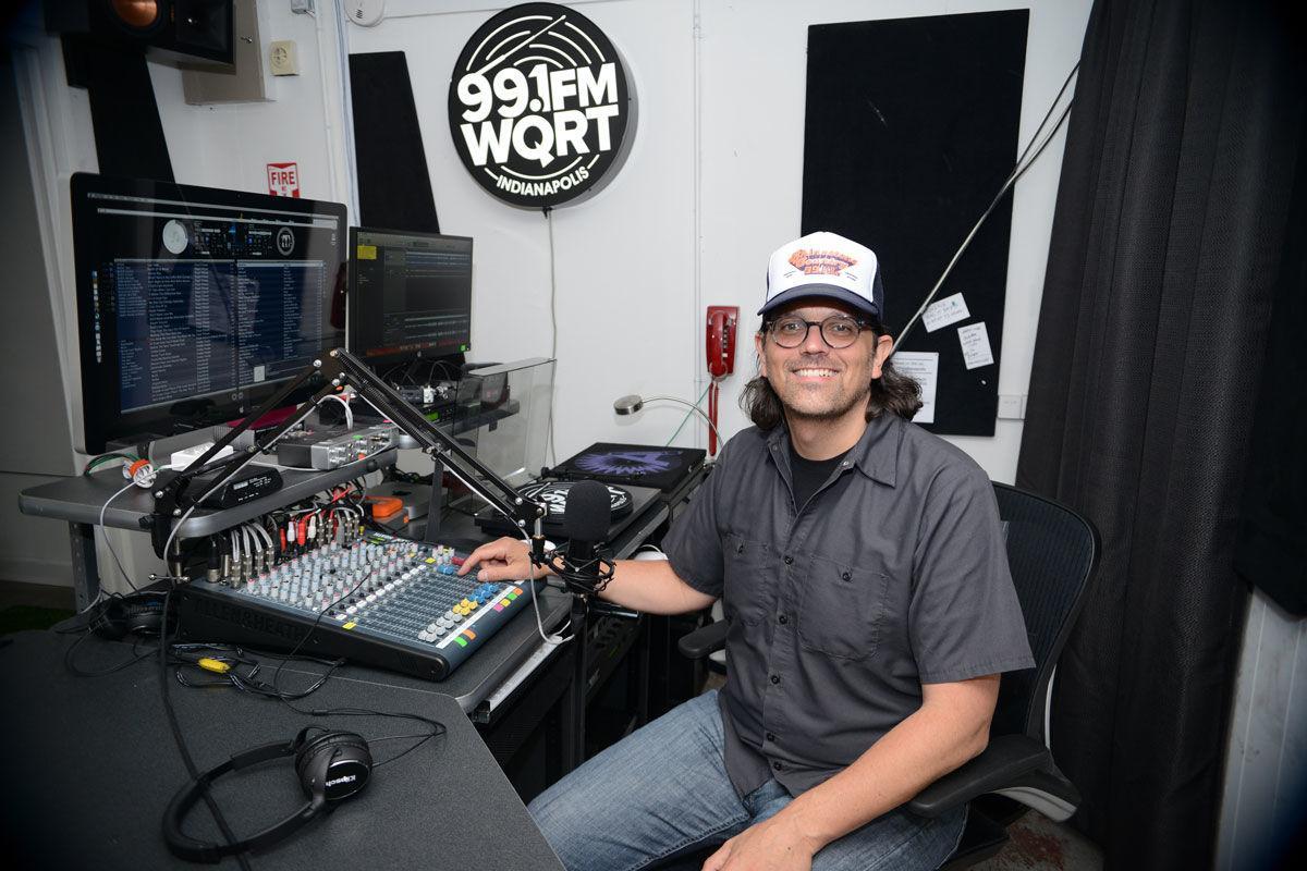 Jim Walker in the WQRT studio