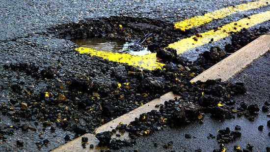 Potholes in streets and budgets