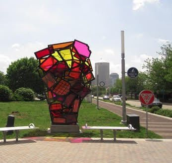 Some of Indy's best public art from a bike
