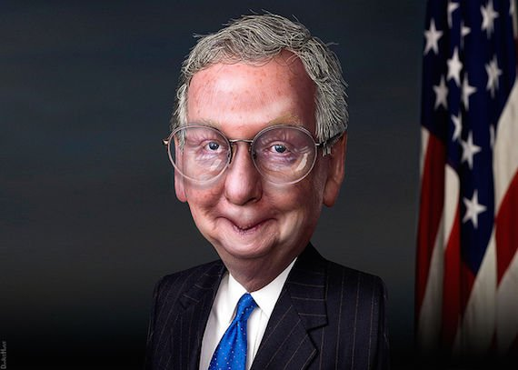 Mitch McConnell caricature