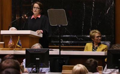Rush focuses first address on modernizing court operations