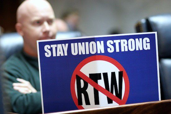 Dems decry GOP right-to-work plans