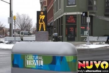 Julian Opie Sculpture Unveiled on the Cultural Trail