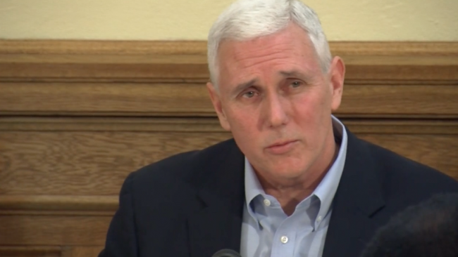 Pence won't say where he stands on gambling bill