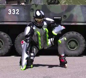 Rollerman suit: Rollerblades on steroids