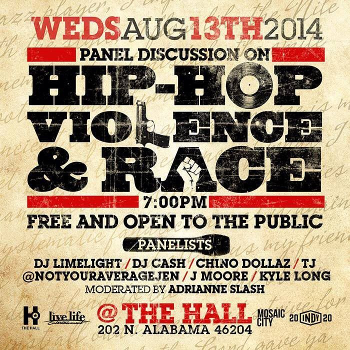 Hip-hop, violence, race discussed tonight at panel at The Hall