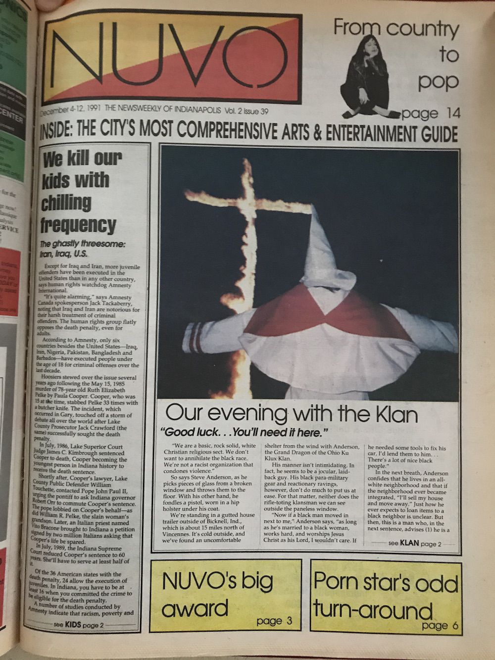 Our evening with the Klan