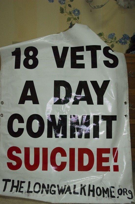Barefoot crusade against veteran suicides