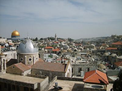 View of Jerusalem's Old City from Austrian Embassy