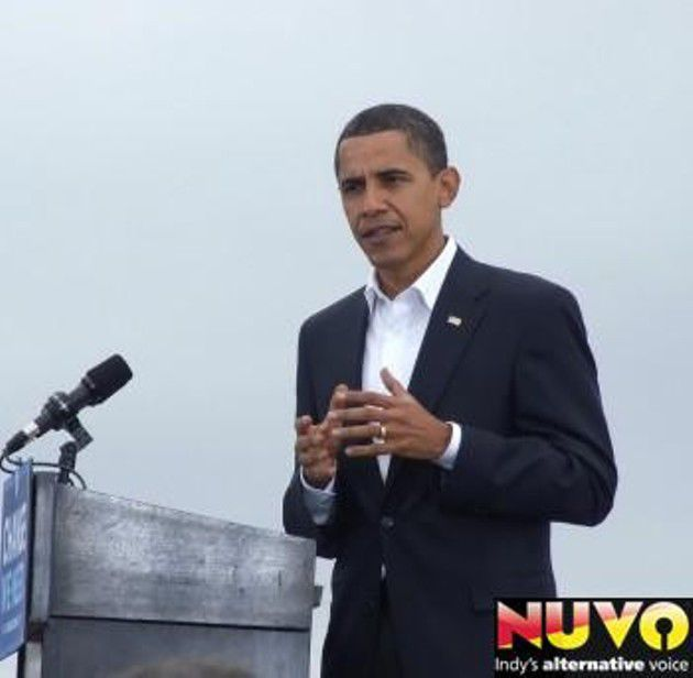 Barack Obama at the Indiana State Fairgrounds