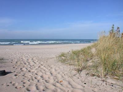 Lake Michigan shore in Northern Indiana