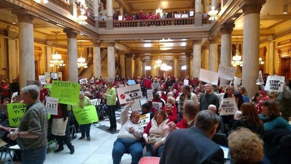 Supporters rally for Ritz and public education