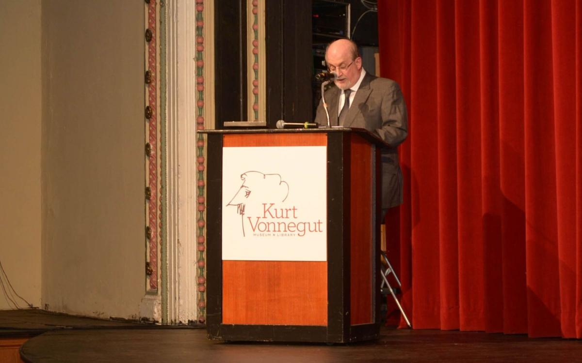Salman Rushdie at the Night of Vonnegut at the Athenaeum