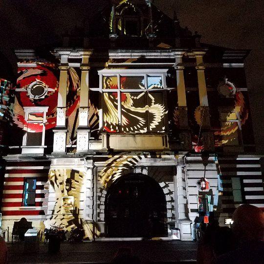 German Influencers Light-Art Show