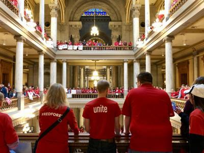 This is a warning shot': Indiana's Red for Ed rally isn't a strike, but it's closing schools anyway