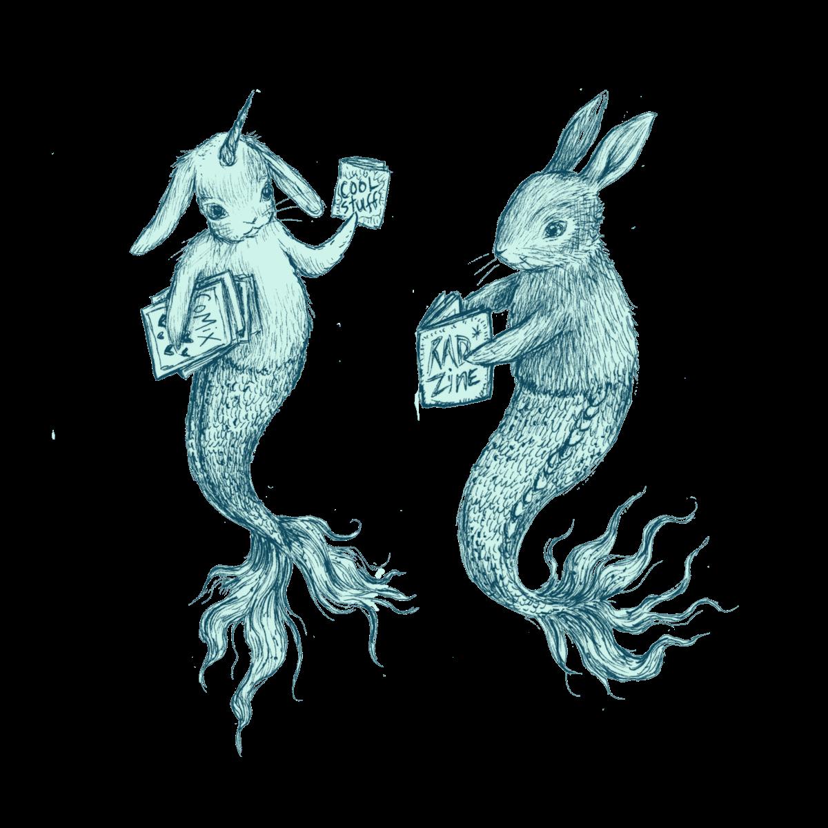 Gluestick Bunny Mermaids