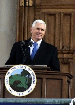 Gov. Mike Pence takes his oath of office