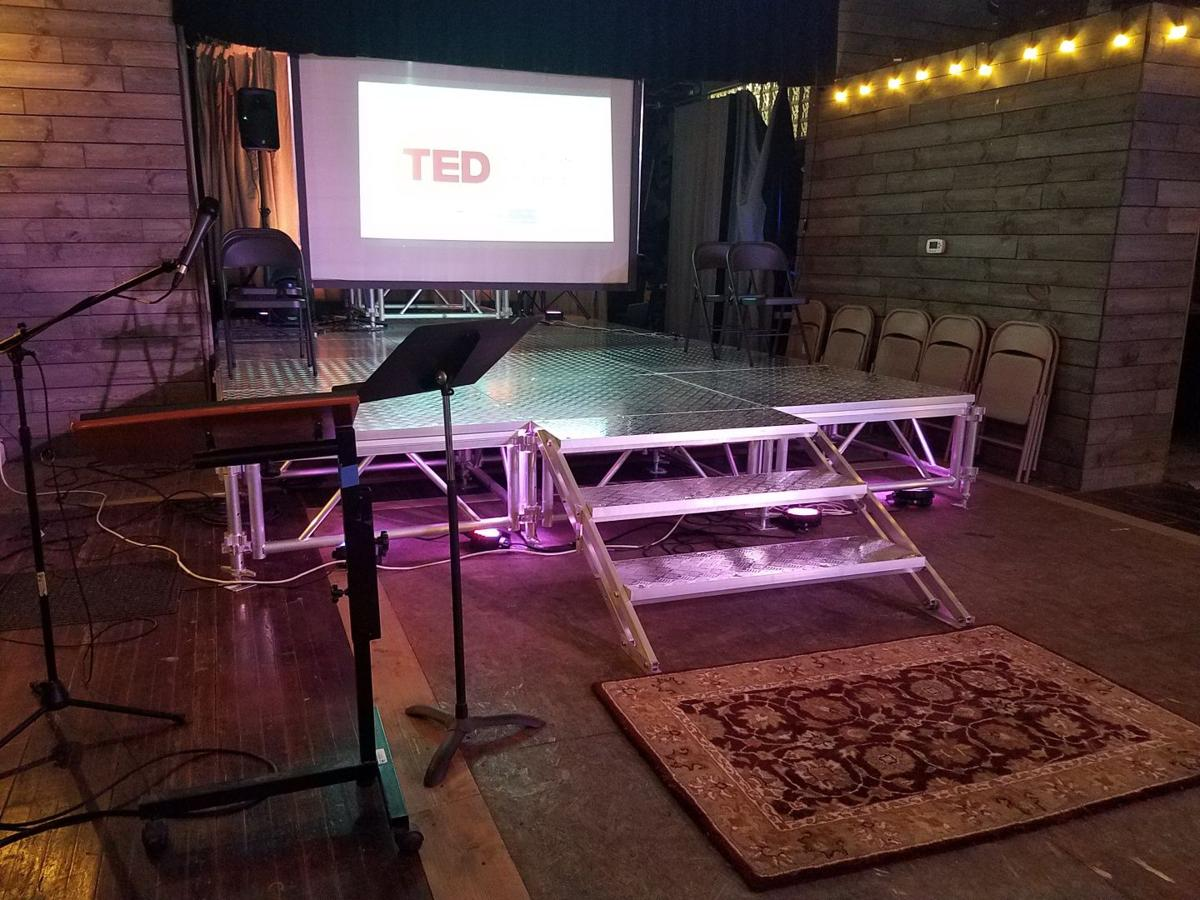The TED stage at Indy Convergence