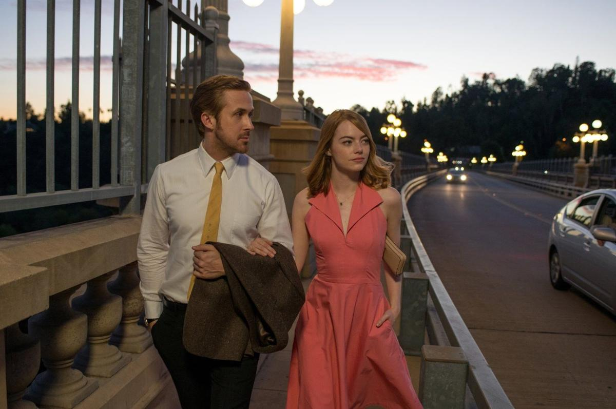 "Review: Emma Stone and Ryan Gosling in ""La La Land"" show a fairy tale look at a tough business"