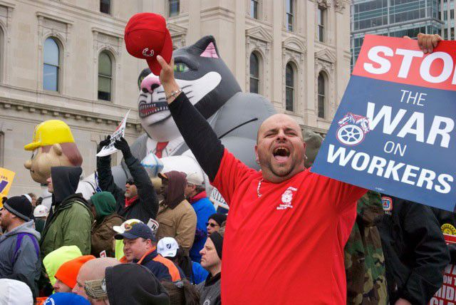 Unions lobby returning lawmakers