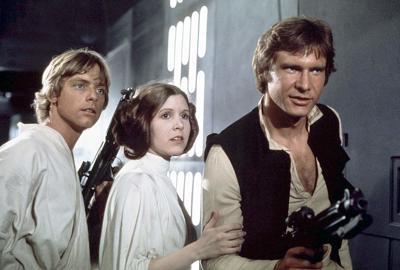 Luke Skywalker, Leia Organa, and Han Solo