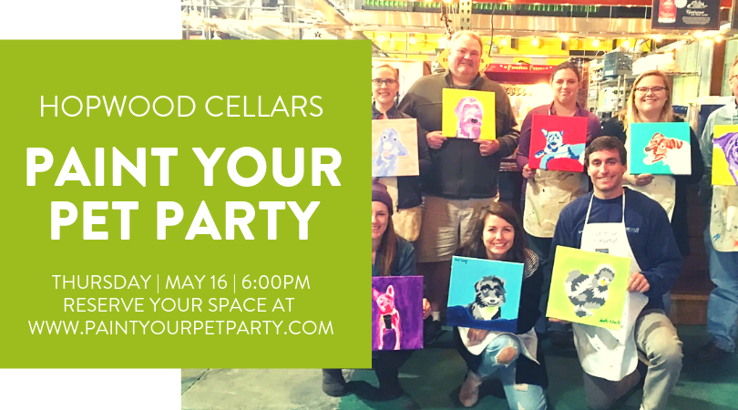 Paint Your Pet Party at Hopwood Cellars