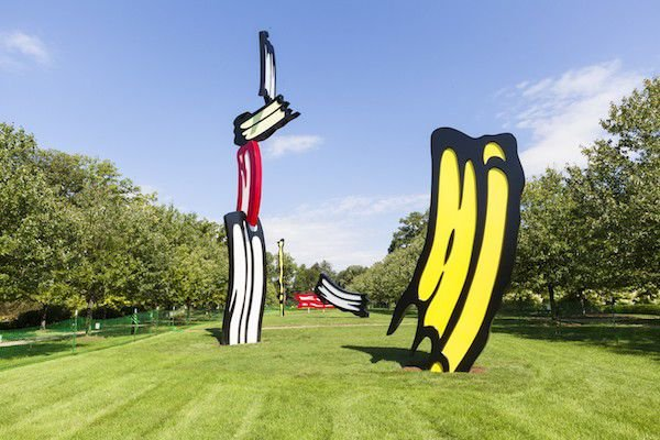 "30 years in the making: Lichtenstein's monumental ""Five Brushstrokes"""