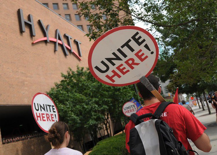 At least 40 arrested in Hyatt protest