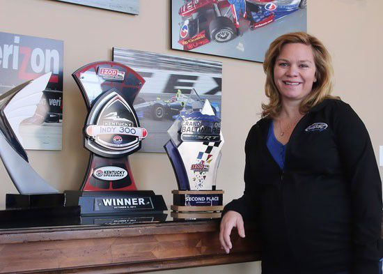 Sarah Fisher, part time pace car driver