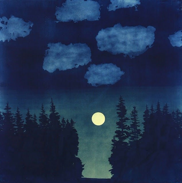 """""""Moonlight Clearing"""" by Casey Roberts at Edington Gallery"""