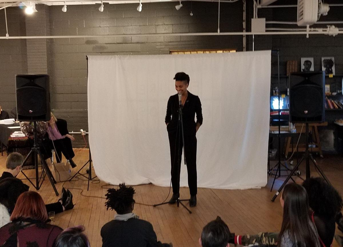 Tatjana Rebelle at the mic