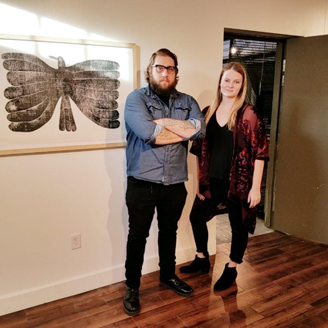 Dominic Senibaldi and Liz Wierzbicki