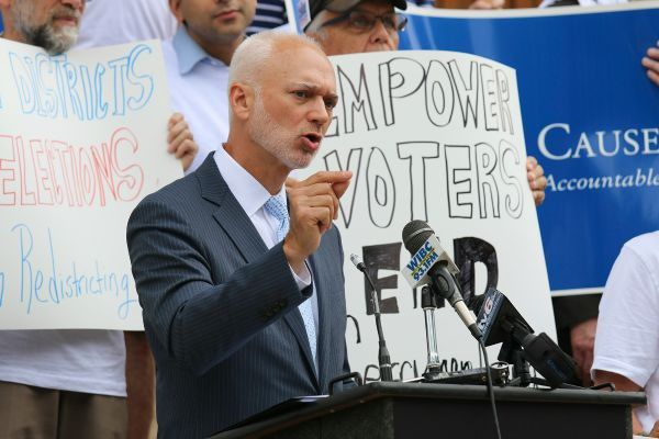Rally goers call for the end of gerrymandering