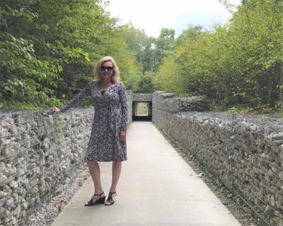 Amanda Kingsbury at 100 Acres Park in Newfields